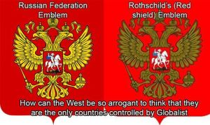 An infamous, purely Babylonian Coat of Arms, used by the Rothschild Family.....and the Russian State.